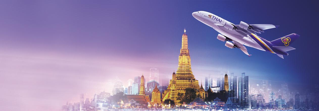 Banner máy bay Thai Airways