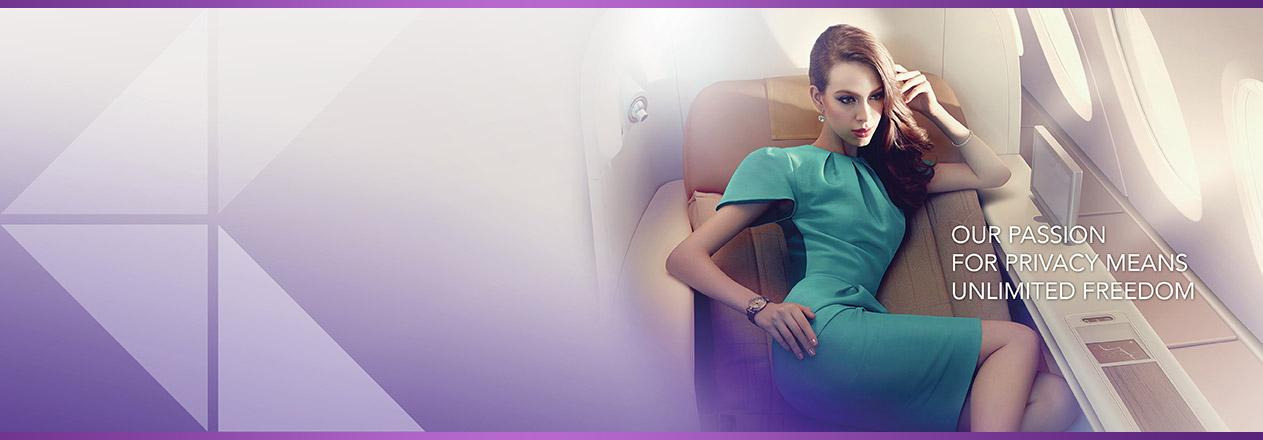 Banner Thai Airways royal first class