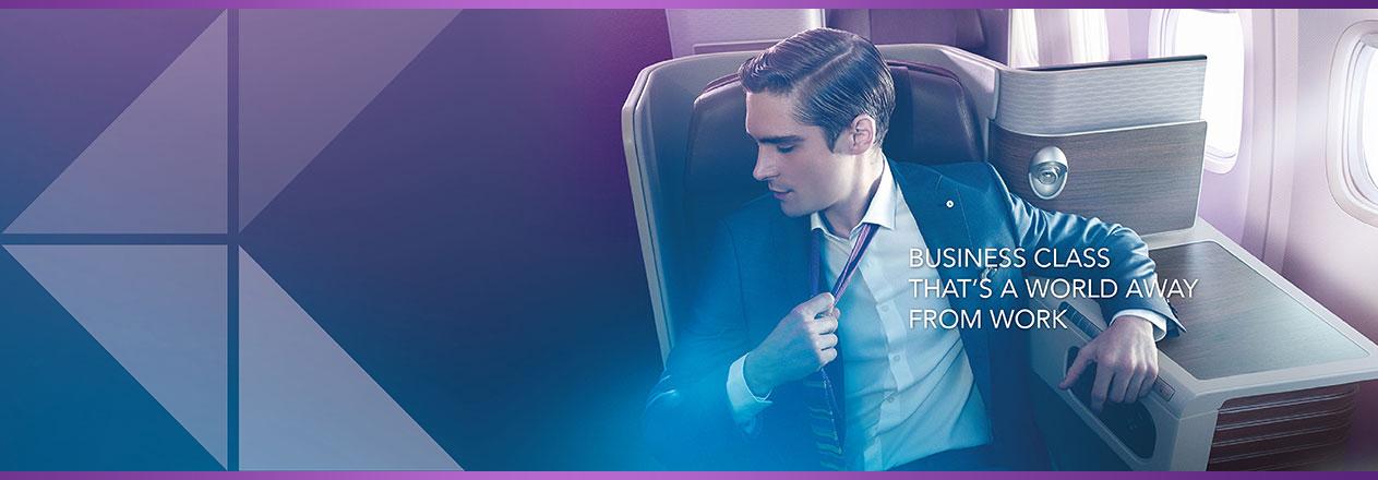 Banner Thai Airways royal silk class