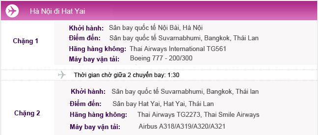 Vé máy bay Hà Nội đi Hat Yai