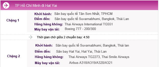 Vé máy bay TPHCM đi Hat Yai