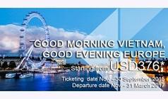 Khuyến mãi từ TPHCM đi Châu Âu của Thai Airways