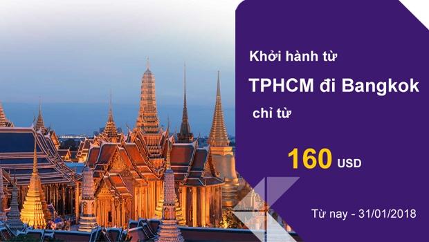 Thai Airways khuyến mãi từ TPHCM đi Thailand 2018
