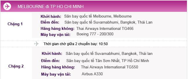 Vé máy bay từ Melbourne đi TPHCM