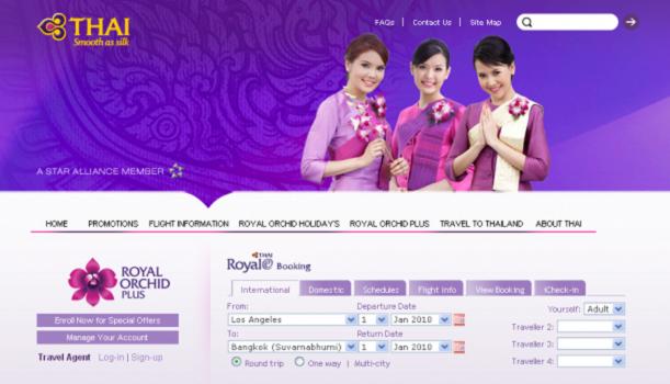 Nâng hạng vé máy bay Thai Airways