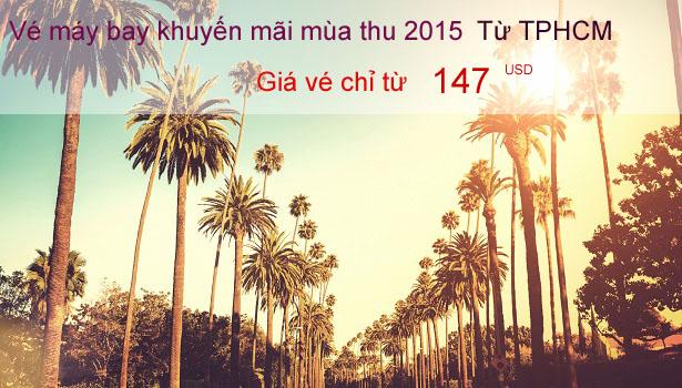 Vé máy bay Thai Airways khuyến mãi mùa thu 2015