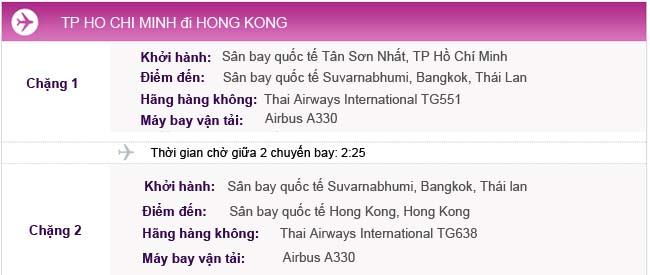 Vé máy bay từ TPHCM đi Hong Kong