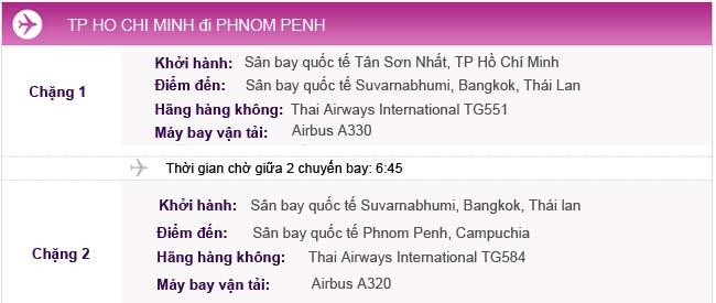 Vé máy bay đi Phnom Penh từ TPHCM