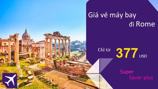 Vé máy bay đi Rome giá rẻ