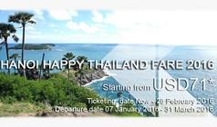 Vé máy bay Thai Airways khuyến mãi 2016