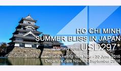 Vé máy bay khuyến mãi từ TPHCM đi Nhật Bản