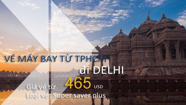 Vé máy bay từ TPHCM đi Delhi