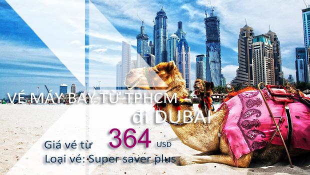 Vé máy bay từ TPHCM đi Dubai