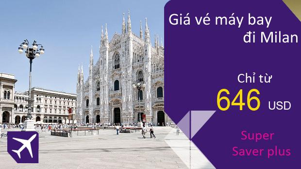 Vé máy bay từ TPHCM đi Milan