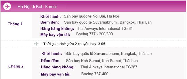 Vé máy bay từ Hà Nội đi Koh Samui