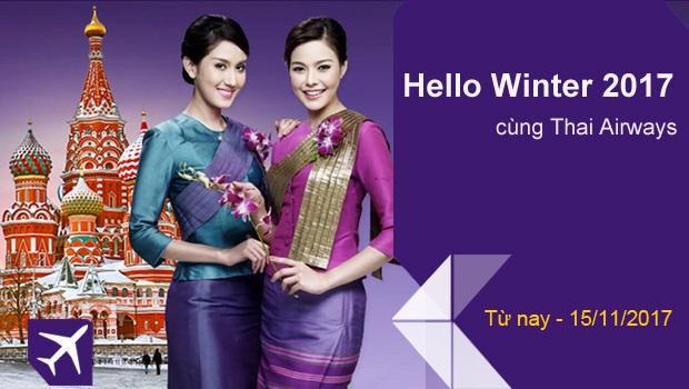 Vé máy bay Thai Airways khuyến mãi chào đông 2107