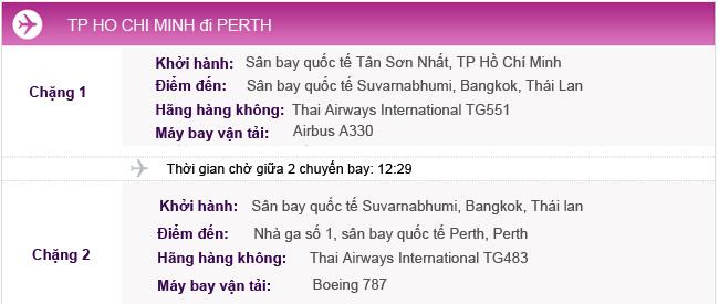 Vé máy bay khứ hồi từ TPHCM đi Perth