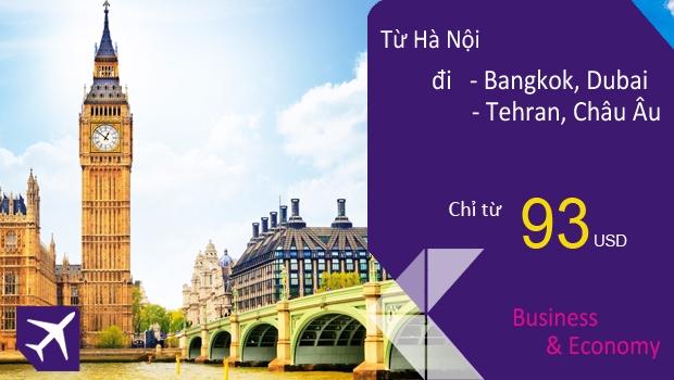 Vé máy bay khuyến mãi đặc biệt từ Hà Nội của Thai Airways