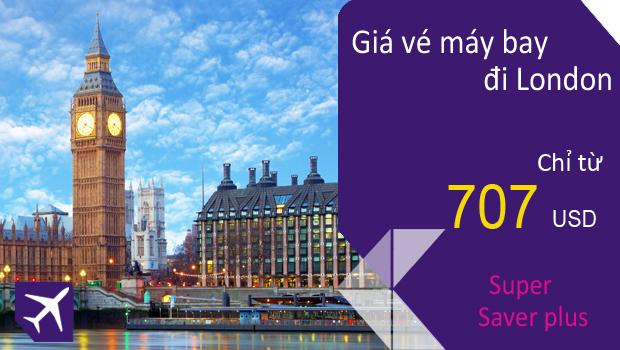 Vé máy bay từ TPHCM đi London