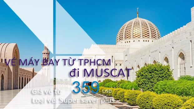 Vé máy bay từ TPHCM đi Muscat