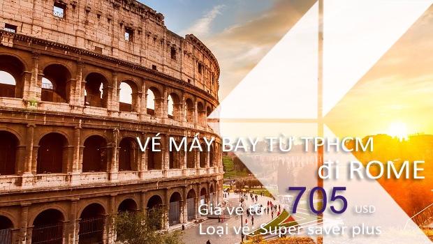 Vé máy bay từ TPHCM đi Rome